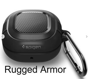 Case Galaxy Buds Live - Spigen Rugged Armor (chính hãng)